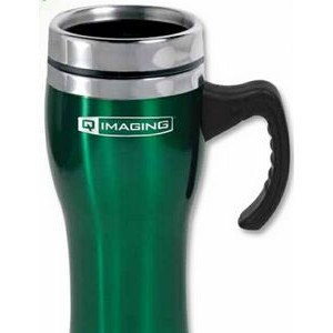 16 Oz. Stainless Steel Tropic Travel Mug w/ Safety Lid (3-5 Days)