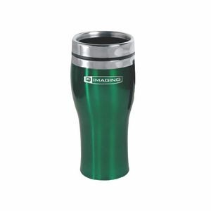 16 Oz. Stainless Steel Monsoon Travel Mug w/ Safety Lid (3-5 Days)