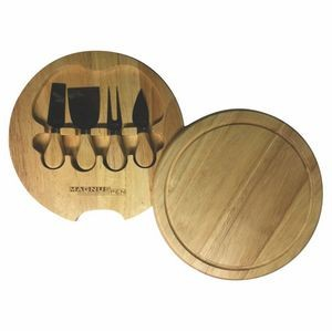 "10"" Cheese board & 4 Piece Utensil Set (3-5 Days)"